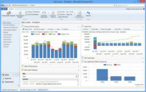 Dashboard de Microsoft Dynamics Navision